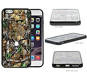 Camo Oak Woods Black White Skull Mount #1 iPhone 6 PLUS (5.5) INCH SCREEN Hard Silicone PC Cell Phone Case