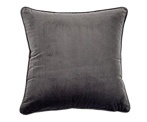 Sanmetex Soild Throw Pillows Covers Soft Velvet Pillows Cases Home Decorative Throw Cushion Cover 18x18-inch, Grey (Washed Velvet Pillow Cover)