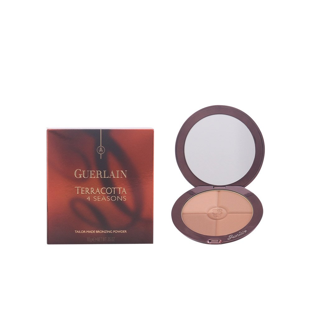 Guerlain 4 Seasons Made Bronzing Powder SPF10 with Pure Gold 03 Naturel Brunettes for Women, 0.35 Ounce