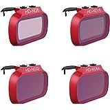 Honbobo DJI Mavic Mini 対応レンズフィルター CPL/UV/ND8 16 32 64/ND8-PL ND16-PL ND32-PL ND64-PLレンズフィルターセット PGYTECH製品 (ND8+ND16+ND32+ND64)