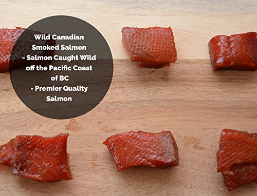Salmon Nuggets (Wild Caught Canadian Maple Hot Smoked Wild Sockeye Salmon Nuggets (1/2 lbs))