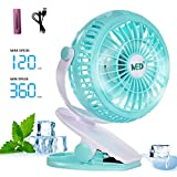 Image of Mini Battery Operated Clip Fan,Sall Portable Fan Powered by Rechargeable Battery or USB Desk Personal Fan for Baby Stroller Car Gym Workout Camping,Green (green)