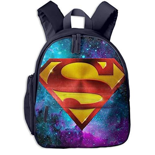 Superman Galaxy Print School Backpacks For Girls Boys Kids Elementary School Bags Bookbag Outdoor Daypack