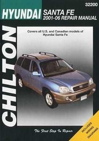 Automotive Repair Manual For Hyundai Santa Fe 2001 U002712 (32200)