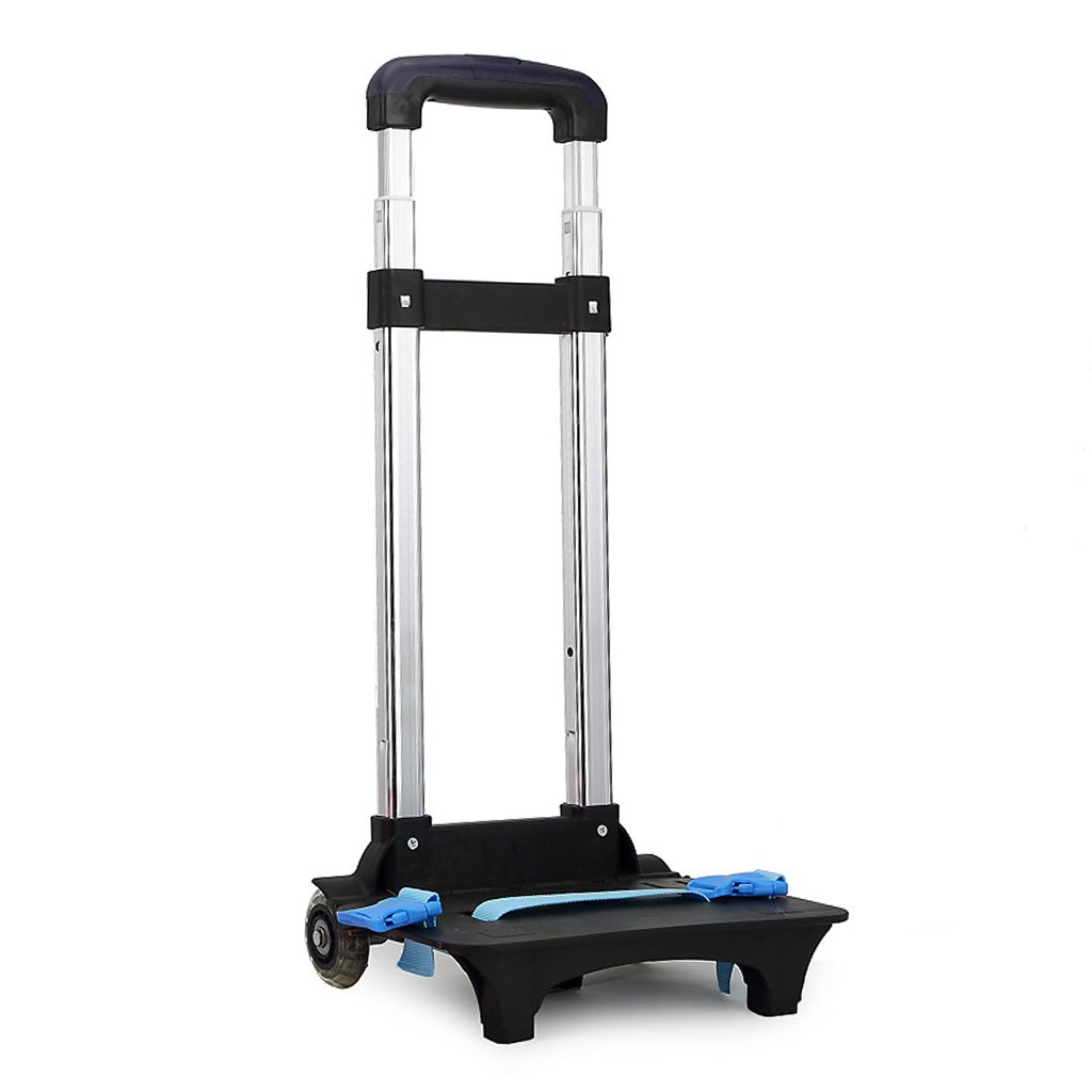 Backpack Trolley - Wheeled Trolley Hand Aluminium Alloy Folding Trolley Cart for Backpack (Blue, 2 Wheels) Zhongding