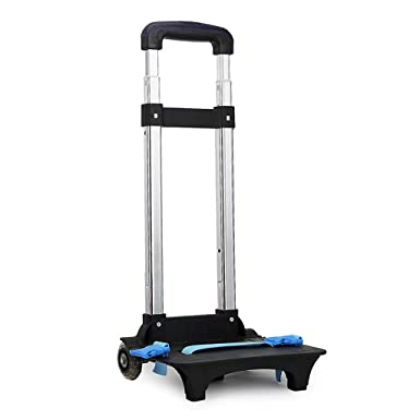 Backpack Trolley - Wheeled Trolley Hand Aluminium Alloy Folding Trolley Cart for Backpack (Blue,