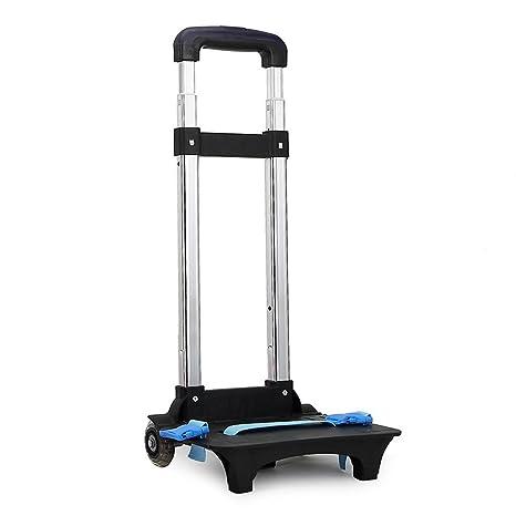Amazon.com | Backpack Trolley - Wheeled Trolley Hand Aluminium Alloy Folding Trolley Cart for Backpack (Blue, 2 Wheels) | Luggage Carts