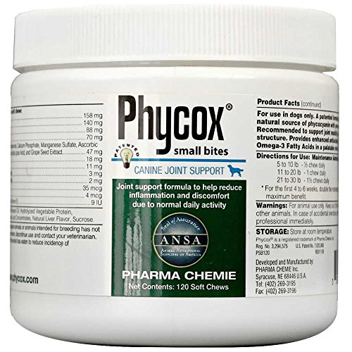Phycox Canine Joint Support Small Bites, 120 Count