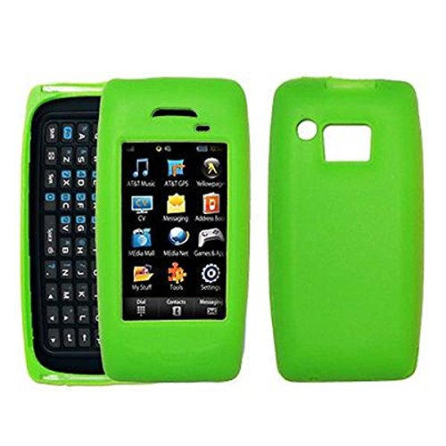 (Premium Green Silicone Gel Skin Cover Case for Samsung Impression A877 [Accessory Export Brand Packaging])