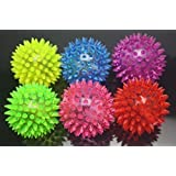 Wish Dayz 6pcs Colors Elastic Light-up Spike Ball with LED flash light up for fun/Games