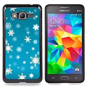 For Samsung Galaxy Grand Prime SM-G530F G530FZ G530Y G530H G530FZ/DS , Invierno azul brillante Nieve - Diseño Patrón Teléfono Caso Cubierta Case Bumper Duro Protección Case Cover Funda