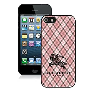iPhone 5S Case,Burberry 5 Black iPhone 5S Screen Phone Case Fashion and Grace Design