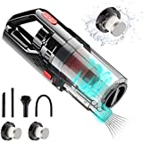 UNIWA Car Vacuum Cleaner 6000PA 150W DC12V Portable Handheld Low Noise Wet Dry Use for Quick Cleaning