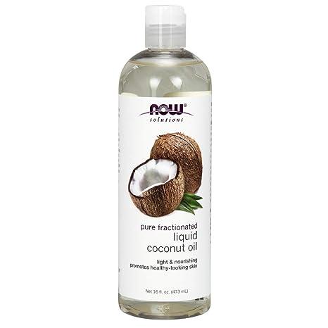 El aceite de coco líquido, puro fraccionado, 16 onzas líquidas (473 ml)