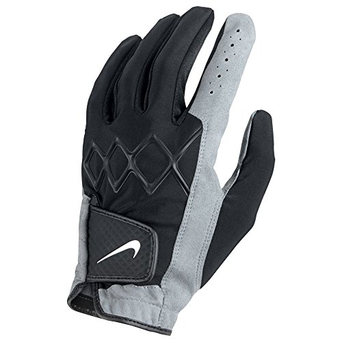 Nike All Weather 3 Golf Gloves 2018 Regular Black/White/Cool Gray Fit to Right and Left Hand Small