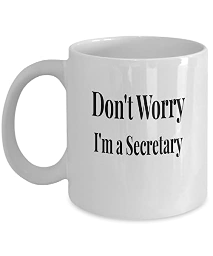 Amazon.com: Secretary gifts coffee mug funny unique ironic cup ...
