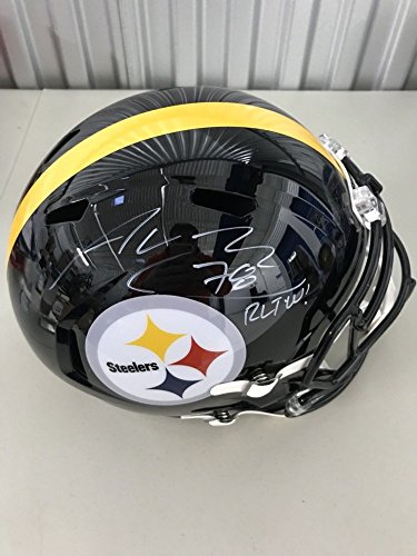 Alejandro Villanueva Signed Autograph Auto Full Size Helmet Pittsburgh Steelers Army Usa PSA/DNA Certified from Sports Collectibles