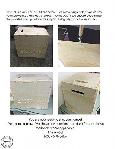 (16/18/20) Bound Plyo Box 3-in-1 Wood Puzzle Plyometric Box - CrossFit Training, MMA, or Plyometric Agility - Jump Box, Plyobox, Plyo Box, Plyometric Box, Plyometrics Box by BOUND Plyo Box (Image #6)