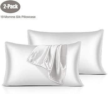 Funda de almohada de seda Sable, funda de almohada de seda natural de una cara para el cabello y la piel, suave ...