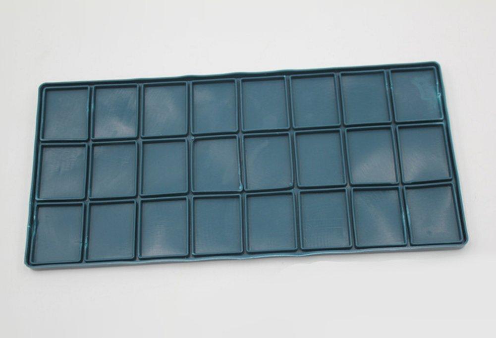 Chytaii Palette de Peinture /à l Huile Aquarelle Rectangulaire en Plastique Couverture Molle Multifonctionnelle 24 Compartiments 21,5 * 10,5 * 2 cm