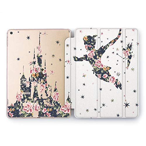 Wonder Wild Floral Peter Pan Apple iPad Pro Case 9.7 11 inch Mini 1 2 3 4 Air 2 10.5 12.9 2018 2017 Design 5th 6th Gen Clear Smart Hard Cover Cartoon Characters Tinker Bell Peonies Silhouette Art -
