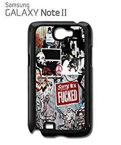 Banksy Street Art Graffiti Mobile Cell Phone Case Samsung Note 2 Black