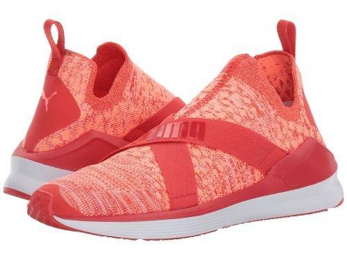喪バケット些細PUMA(プーマ) レディース 女性用 シューズ 靴 スニーカー 運動靴 Fierce Evoknit - Poppy Red/Puma White [並行輸入品]