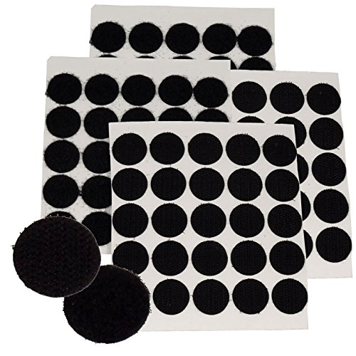 BlueDot Trading,Hook & Loop Fastener Dots Coins Adhesive Backed, 3/4