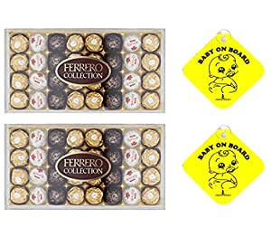 Ferrero Rocher Collection 32 Pieces 349g - Pack of 2 with inspirationindustry gift. (24 Pieces)