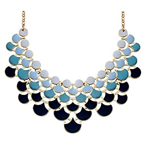 Jane Stone Fashion Statement Collar Necklace Vintage Openwork Bib Costume Jewelry