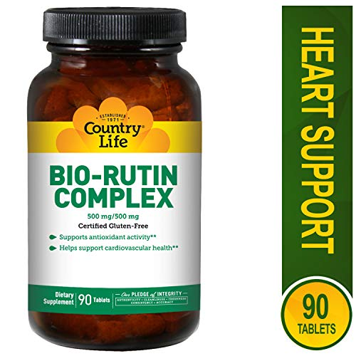 Country Life Citrus Bio-Rutin Complex 500 mg/500 mg, Tablets, 90-Count