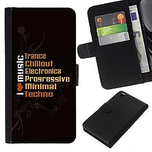 EJOY---La carpeta del tirón la caja de cuero de alta calidad de la PU Caso protector / HTC DESIRE 816 / --I Live Music