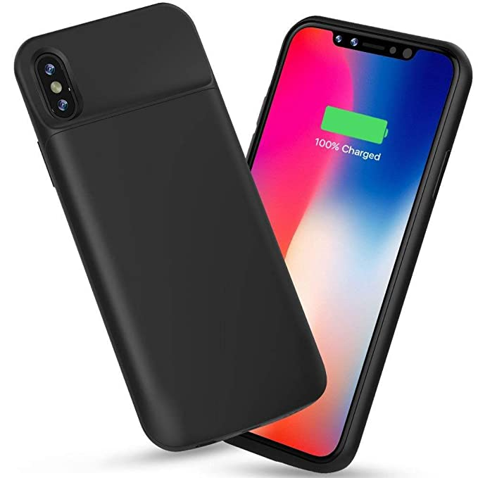 newest e227a 4c37d ALCLAP iPhone X Battery Case, 3600mAh Rechargeable Charger Case Portable  Charging Case iPhone X /10 (5.8 inch) Extended Case Battery/Lightning Cable  ...