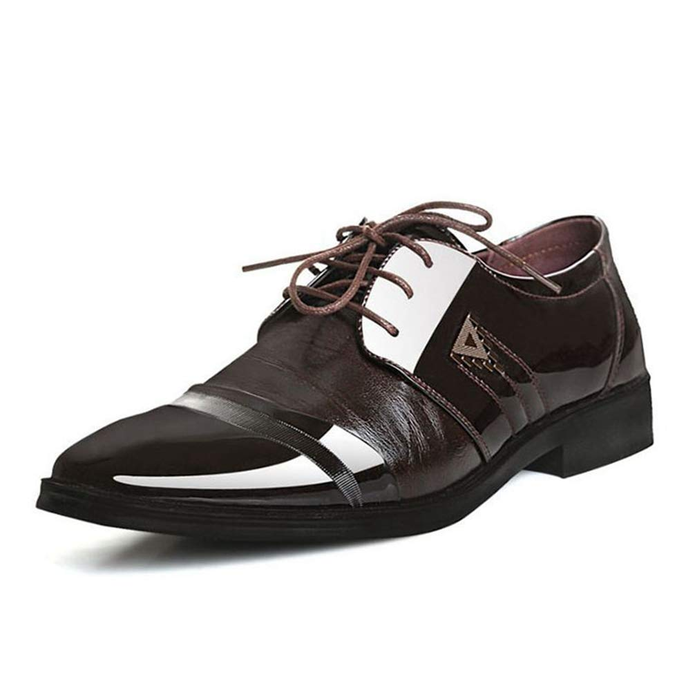 Men Dress Shoes Pointed Toe Classic Business Casual Formal Oxfords Shoes