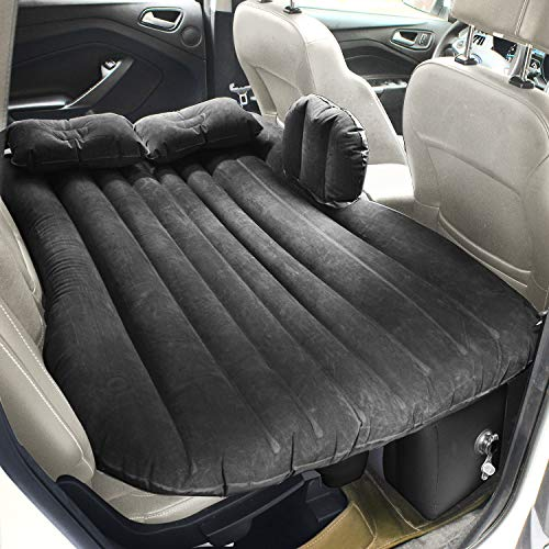 FBSPORT Car Travel Inflatable Mattress Air Bed Cushion Camping Universal SUV Extended Air Couch with Two Air Pillows
