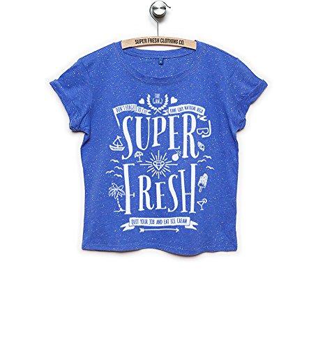 Kane Grey - Super Fresh - Speckled Croptop(bauchfrei) - Blau