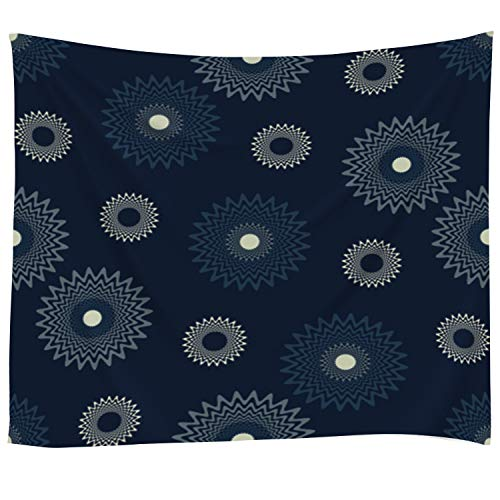Pamime Home Decor Tapestry for Abstract Ornate Ring and dot Textured Background Pattern Wall Tapestry Hanging Tapestries for Dorm Room Bedroom Living Room (50x60 Inches(130x150cm) - Daisy Stretch Ring