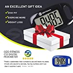 OZO Fitness CS1 Simple Step Tracker Pedometer for Walking. Large Display Step Counter with Lanyard