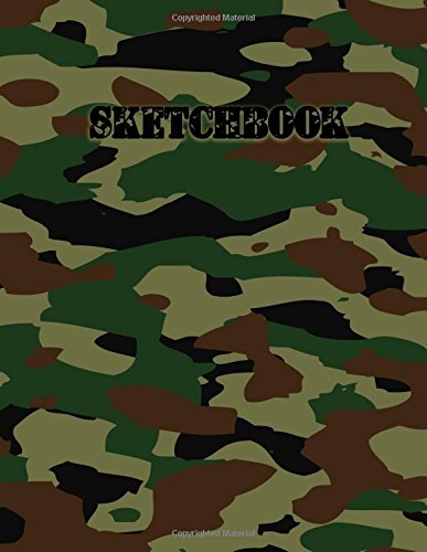 Sketchbook: Army Camouflage, 140 Page Blank Drawing Book To Sketch Your Style (8.5x11) ()