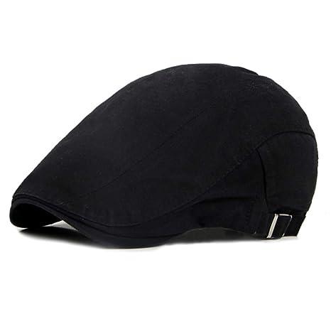 Gorra tipo boina lisa de color sólido de British YLE para hombre ...