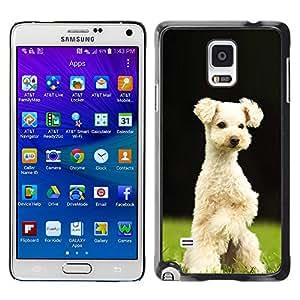 Vortex Accessory Hard Protective Case Skin Cover For Samsung Galaxy Note 4 [Sm-N910S / Sm-N910C] - Lakeland Terrier Sealyham Puppy Dog