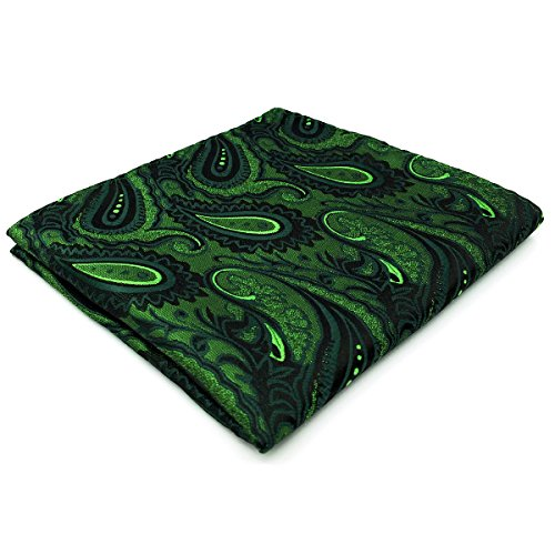 S&W SHLAX&WING Mens Necktie Paisley Dark Green Silk Tie Wedding New Design