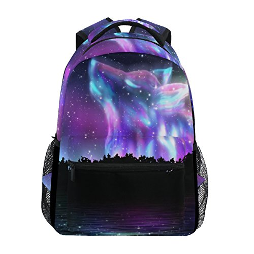 ZZKKO Forest Wolf Boys Girls School Computer Backpacks Book Bag Travel Hiking Camping Daypack
