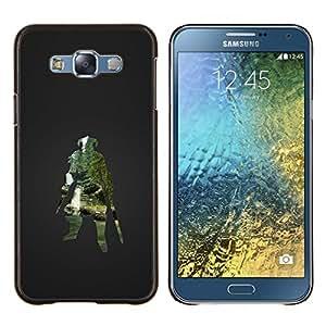 Caucho caso de Shell duro de la cubierta de accesorios de protección BY RAYDREAMMM - Samsung Galaxy E7 E700 - Dracónido Guerrero Skyrm Gaming