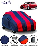 Fabtec Car Body Cover for Maruti Swift (2012-2017) with Mirror Antenna Pocket Storage Bag (Red & Blue)