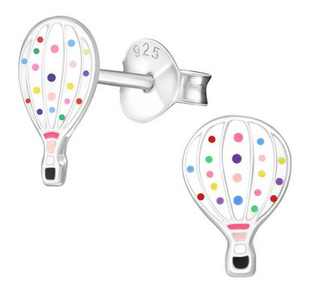 FaithOwl Hot Air Balloon 925 Sterling Silver Stud Earrings