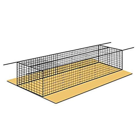FORTRESS 42 Poly Twine and 1 3/4-Inch Square Hung Mesh Baseball Batting Cage Net (8' x 8' x 20') ()