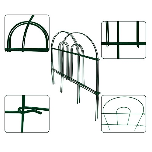Amagabeli Decorative Garden Fence 18 in x 50 ft Rustproof Green Iron Landscape Wire Folding Fencing Ornamental Panel Border Edge Section Edging Patio Flower Bed Animal Barrier for Dog Outdoor Fences …