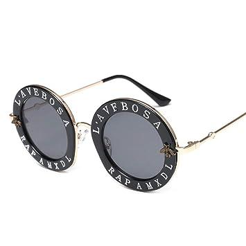 ZHENCHENYZ Gafas de Sol Redondas con abecedario inglés con ...