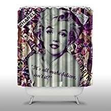 AceDIY Marilyn Monroe Home Fashions Bathroom Shower Curtain Includes Free Hooks Unique Thick shower curtain A42-70*70